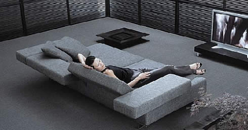 Loft Reclining Section Sofa: Lay back with comfort and style ...