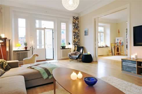 Swedish Inspiration: Four Rooms Apartment in Goteborg