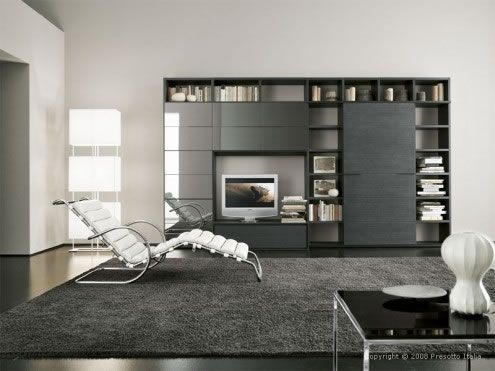 modern living room1 Ultra modern Living Rooms by Presotto Italia