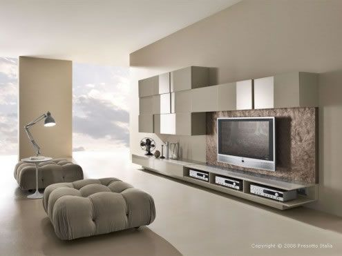 modern living room6 Ultra modern Living Rooms by Presotto Italia
