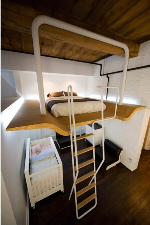 Keuken Opberg Ideeen : Small Bedroom Idea Loft Bed