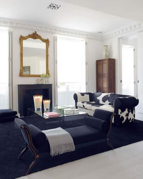 blanco y negro 3 Black and White: Classic style integrated with  contemporary design