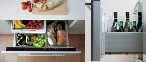 Small fridge in an under-counter cabinet : Izona Cool Drawer