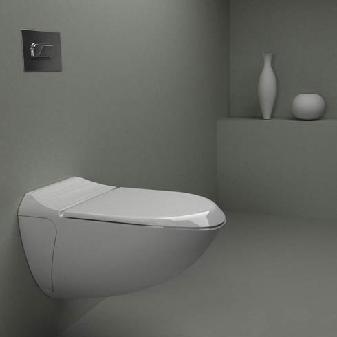 Smart toilet system that uses shower water for flushing
