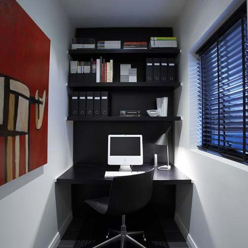 small office corner Small Home Office Idea for a Small Apartment