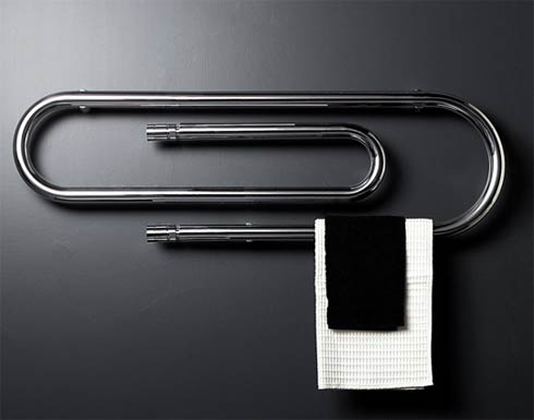 Paper Clip Shaped Heaters by Scirocco