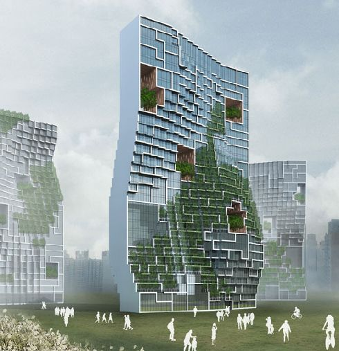 dancing apartment south korea 1 Dancing Apartment: Adding green to the concrete jungle