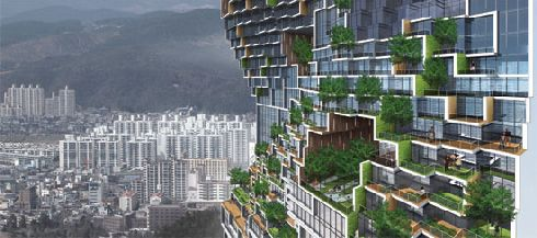 dancing apartment south korea 2 Dancing Apartment: Adding green to the concrete jungle