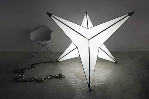 "James Clar's Brutalist ""Spike Light"" Sculpture"
