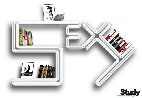 Innovative Bookshelf, Boldness Pinned on Your Wall