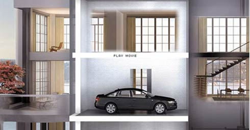 Apartments with Personal Car Elevators