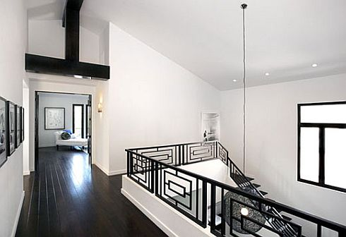 Stripes Curves When Your World Turns To Black And White - Black-and-white-interior-by-tom-atwoo