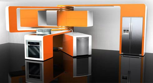 marcello zuffo Marcello Zuffos Movable Kitchen Design