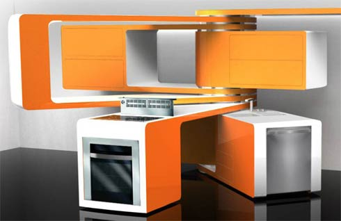 marcello zuffo2 Marcello Zuffos Movable Kitchen Design