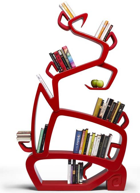 tree bookshelf3 The Wisdom Tree Bookshelf by Jordi Milà