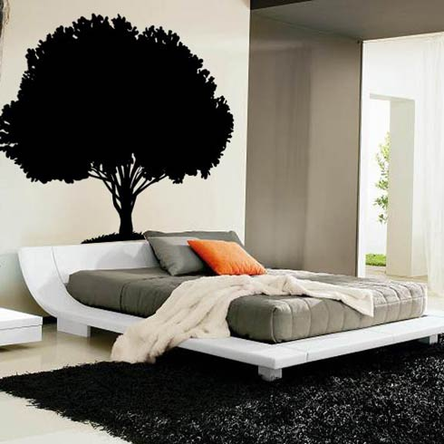 70 Inch Tall  Tree Vinyl Wall Decal