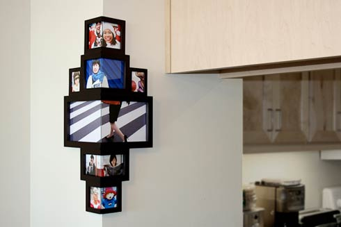 Wrap around corner frame a new way to display pictures - Wallpapering around a curved corner ...