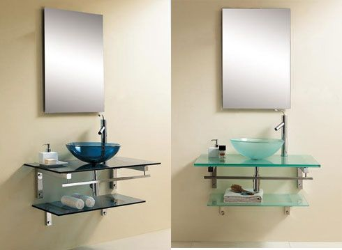 bathroom glass vanity Contemporary Vanities   Solace Bathroom  Vanity