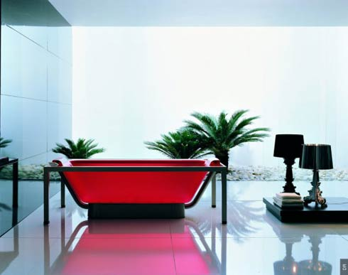 Beautiful coloured glossy acrylic bathtub by Allia