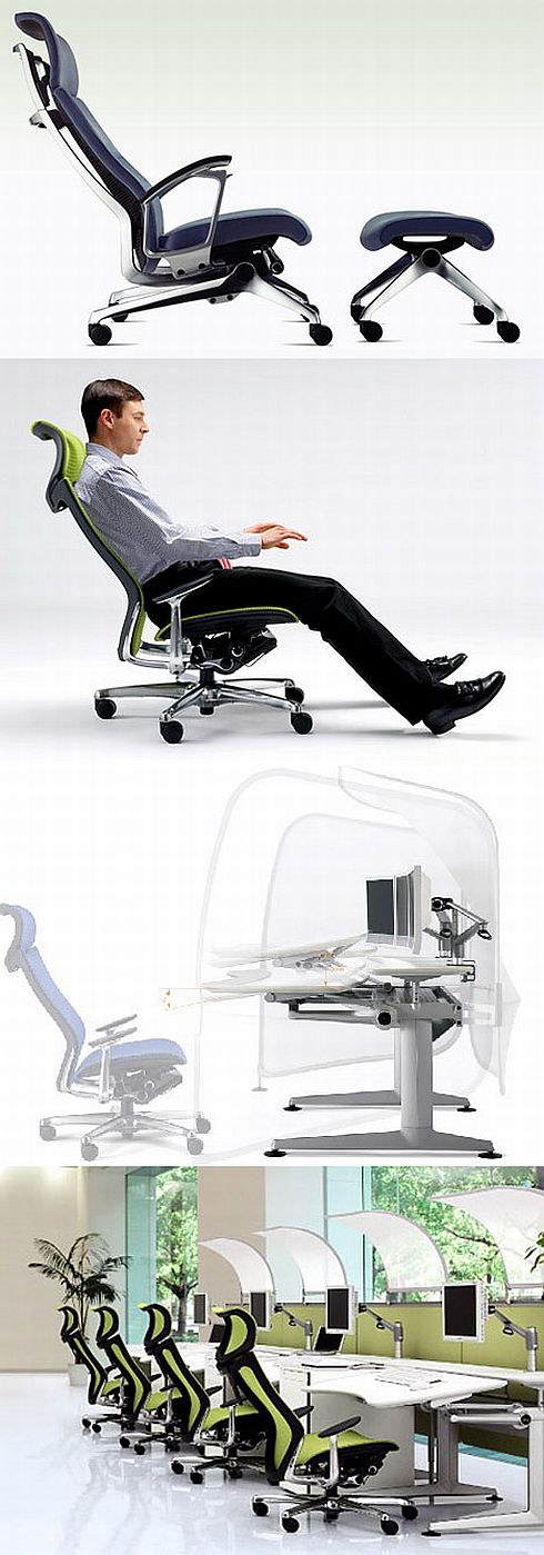 ergonomic office furniture from okamura 1 Ergonomic Office  Furniture from Okamura