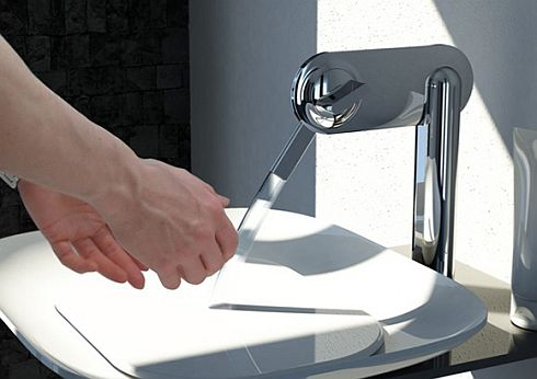 The Fluid Faucet by Kohler Design, Doubles as a Drinking Fountain