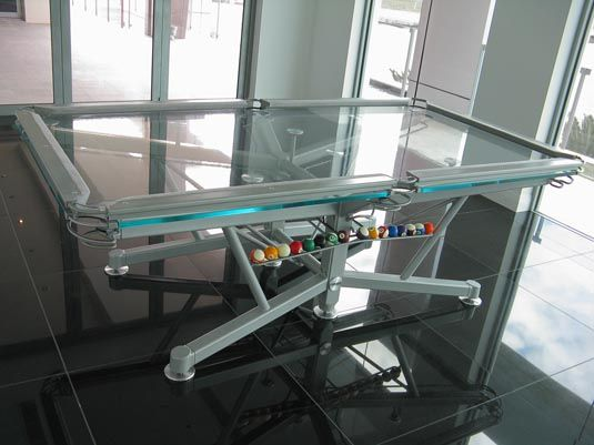 glass pool table2 Transparent Glass Pool Table by Nottage Design G 1