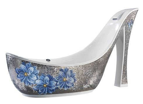 Blue Flower Shoe Bathtub by Milan's SICIS