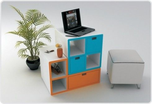 tetris furniture design 1 Tetris Furniture by Diego Silverio and  Helder Filipov