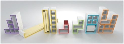 tetris furniture design 2 Tetris Furniture by Diego Silverio and  Helder Filipov