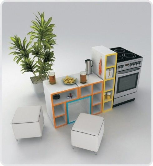 tetris furniture design 3 Tetris Furniture by Diego Silverio and  Helder Filipov