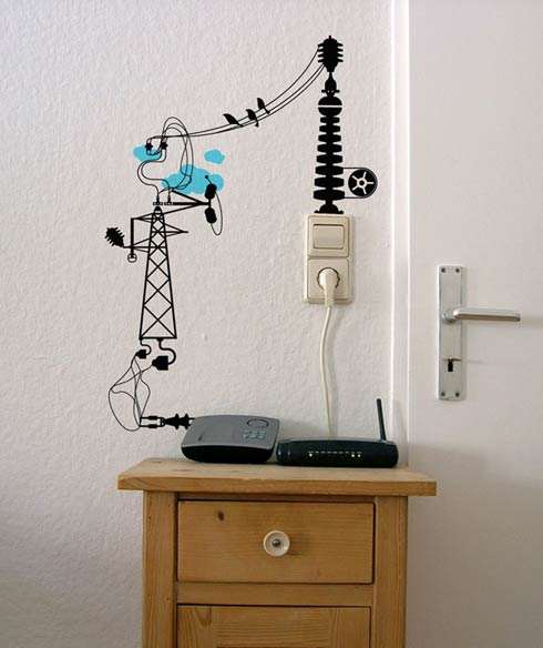 """""""Electronic chaos"""" Vinyl Wall Stickers"""