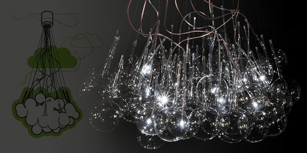 Creative LED Lighting Sculpture : Cumulus Maximus