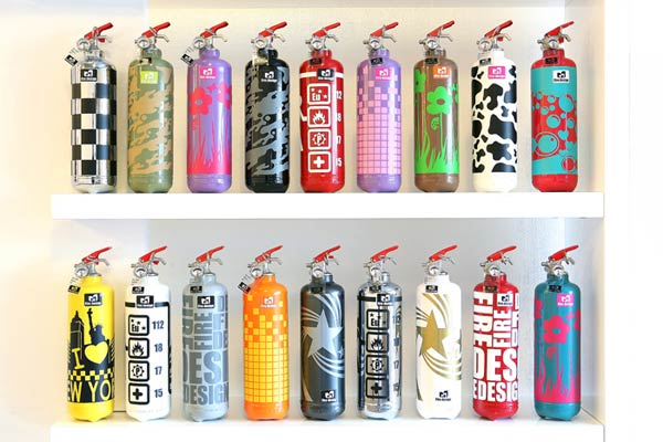 firedesign2 Fire extinguishers as beautiful decorative objects by Fire Design