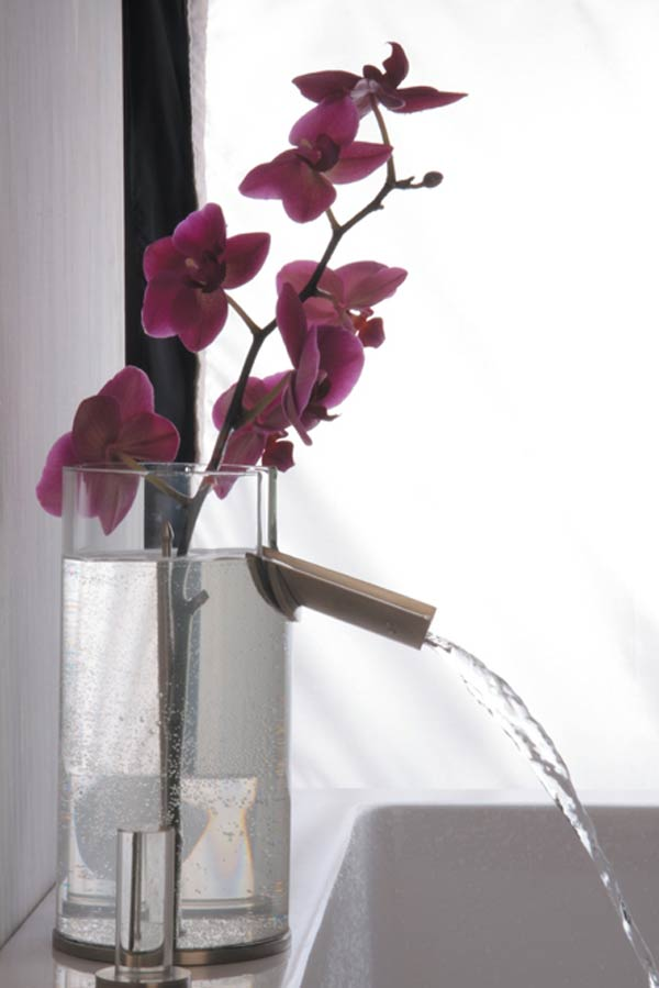 flower faucet2 Bathroom Faucet & Flower Vase Design in One Product
