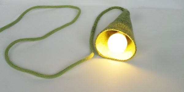 knitted by hand lamp Hand Knitted Lamp by Philippe Tyberghien