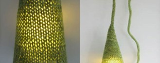 Hand Knitted Lamp by Philippe Tyberghien