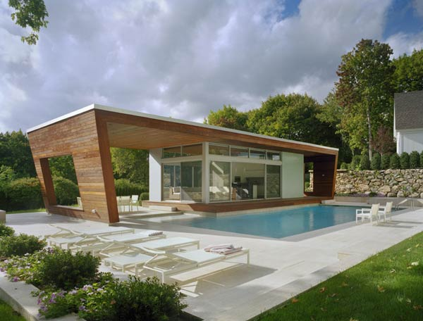 outstanding swimming pool house design 5 Beautiful Pool House in Connecticut by Hariri & Hariri Architecture