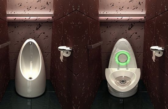 The Toilet That Transforms Into an Urinal