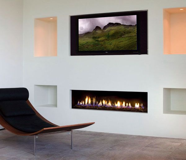 Tv above gas fireplace fireplaces for Gas modern fireplace