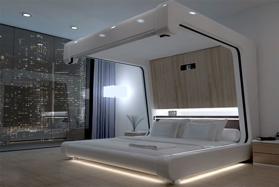 Bed with High Tech Features : Somnus-Neu