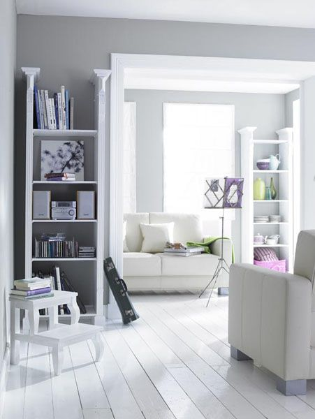 white color interior design18 Decorating White Spaces by Adding a Delicate Touch of Color