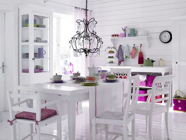 white color interior design20 Decorating White Spaces by Adding a Delicate Touch of Color