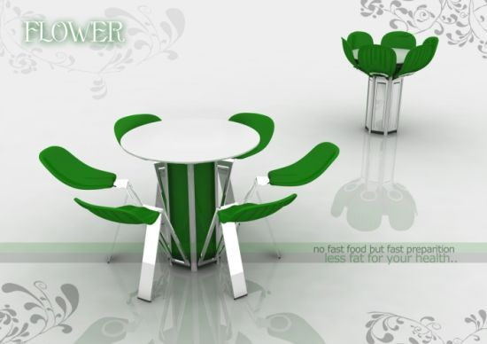 Flower Table from Fatih Can Sarioz