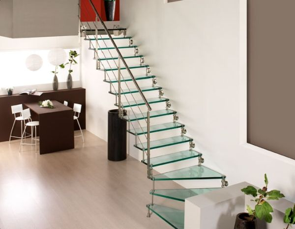 Clipboard02g Spiral Staircases with Glass Steps