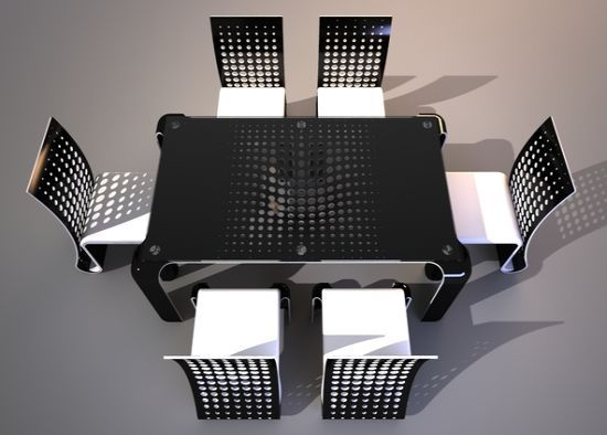 Ergonomic Push Table Dining Set by Svilen Gamolov