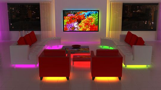 LIT Color-changing LED Tubes to Hide Under Furniture