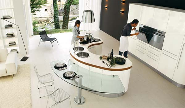 Modern Curved Kitchen Islands 1