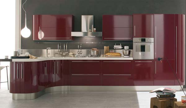 Modern Venere Curved Kitchen Islands