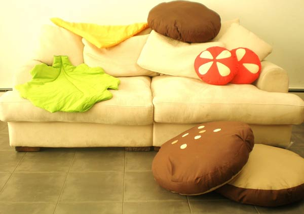 Fun And Colourful Hamburger Scatter Cushions Freshomecom - Hamburger-scatter-cushions