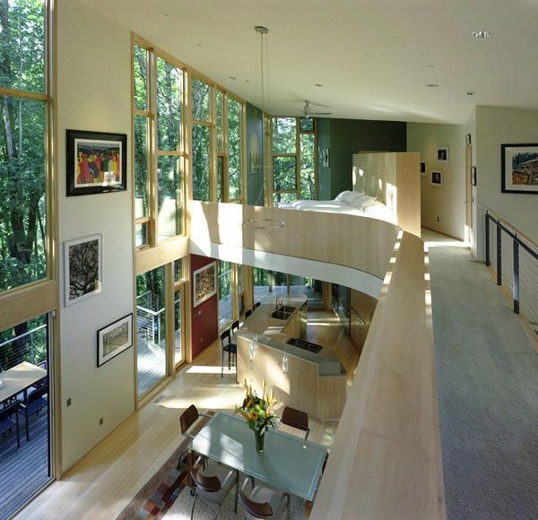 kitchel house 4 Beautiful House Surrounded by Forest and Lush Landscape